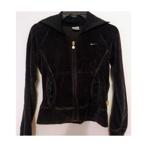 Nike Black Velour Hoodie Women's size Small